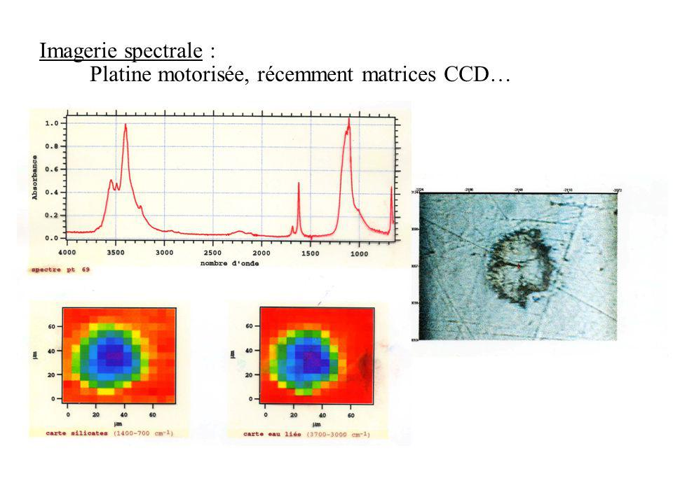 Imagerie spectrale : Platine motorisée, récemment matrices CCD…