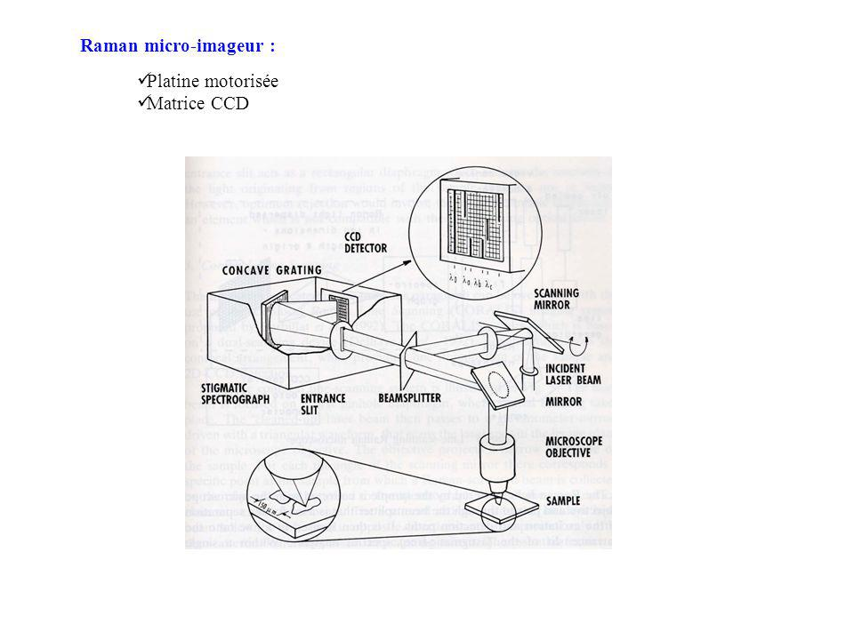 Raman micro-imageur : Platine motorisée Matrice CCD