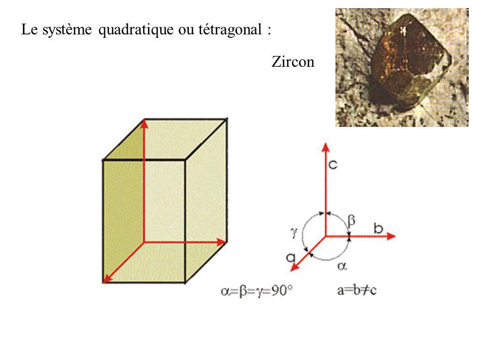 Le système hexagonal : Béryl : lémeraude