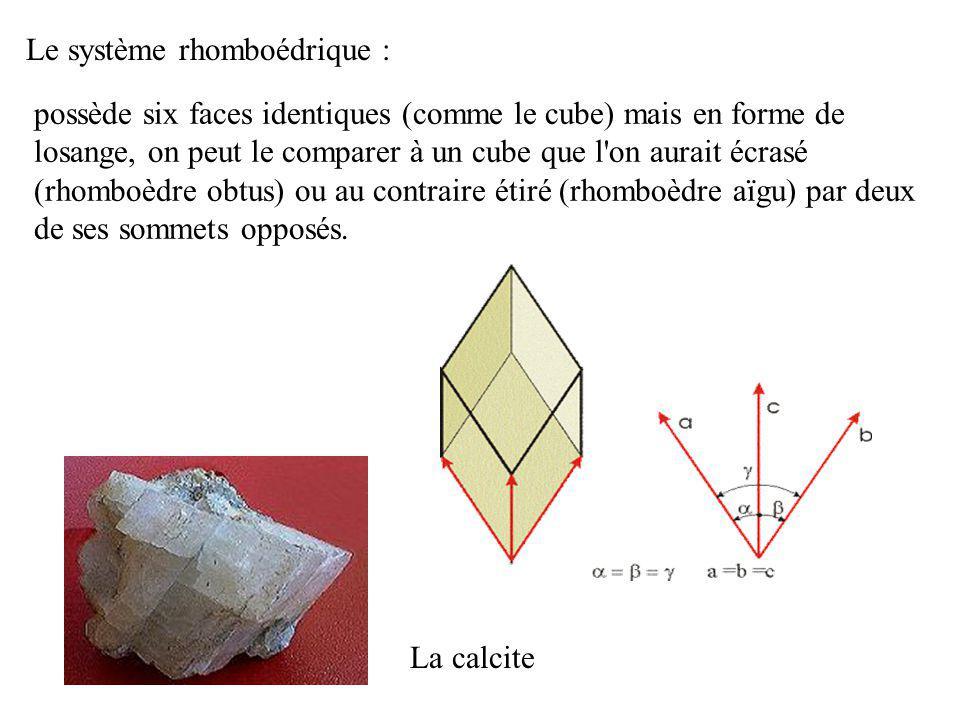 Le système quadratique ou tétragonal : Zircon