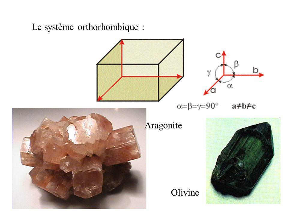 Le système rhomboédrique : La calcite possède six faces identiques (comme le cube) mais en forme de losange, on peut le comparer à un cube que l'on au