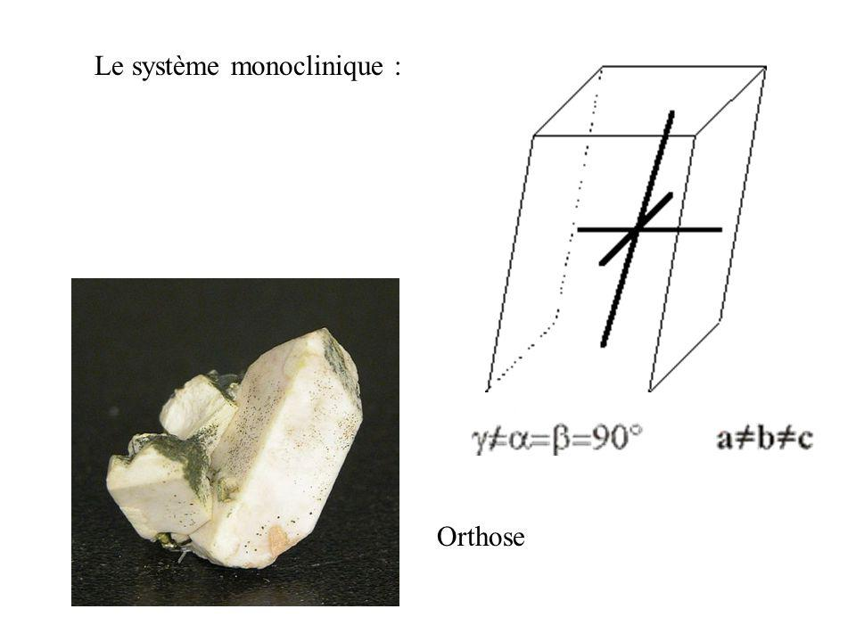 Le système orthorhombique : Aragonite Olivine