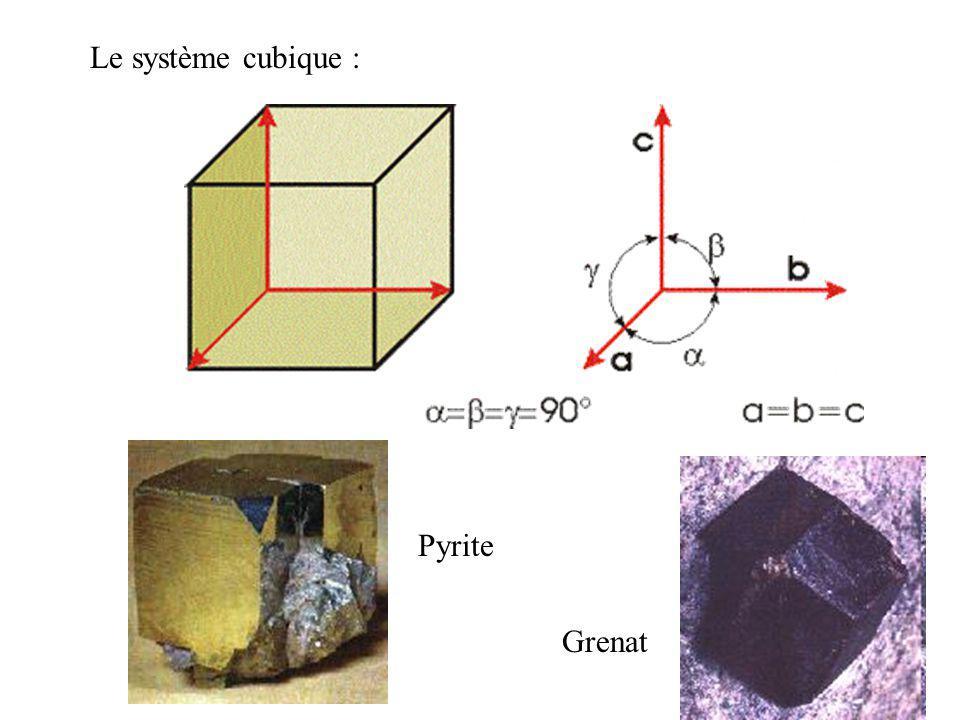 Les systèmes cristallins : La structure cristalline est formée par la répétition dun volume élémentaire de matière cristallisée : la maille.