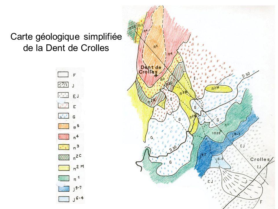 Carte géologique simplifiée de la Dent de Crolles