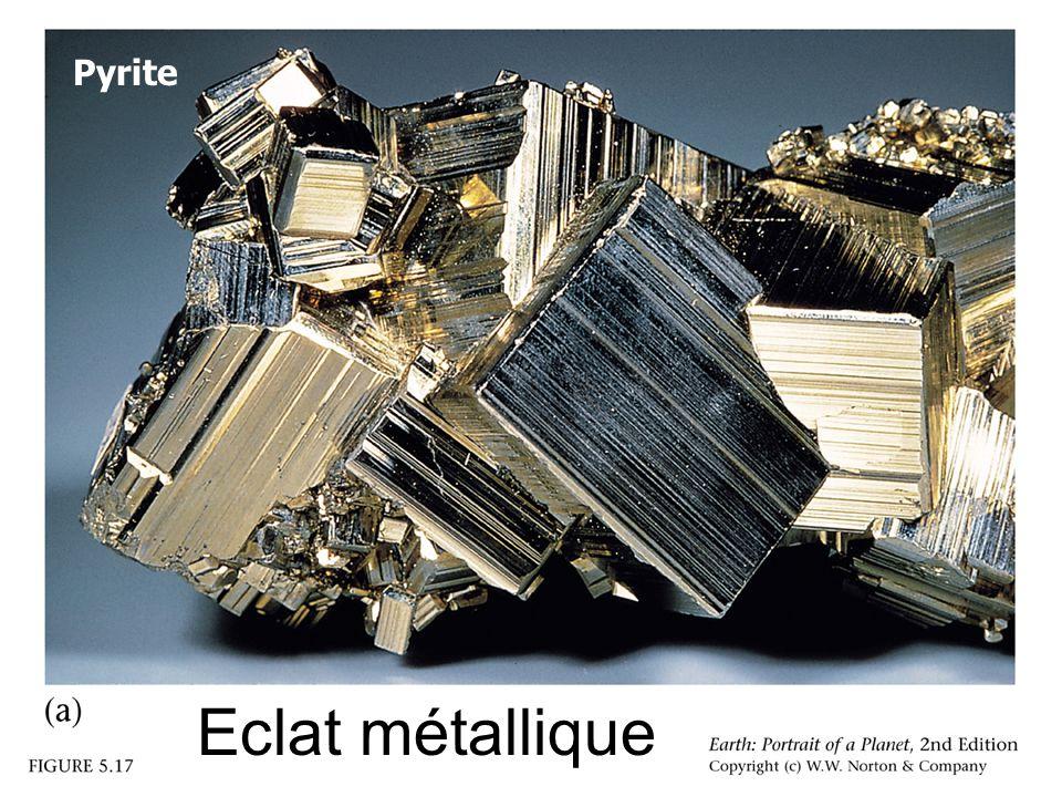 Eclat métallique Pyrite