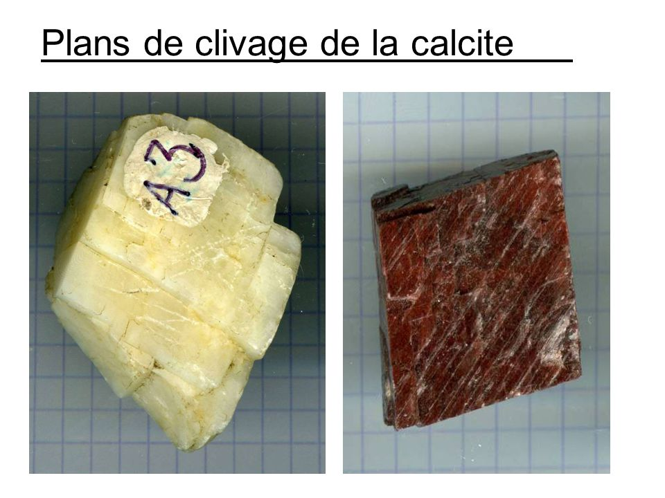 Plans de clivage de la calcite