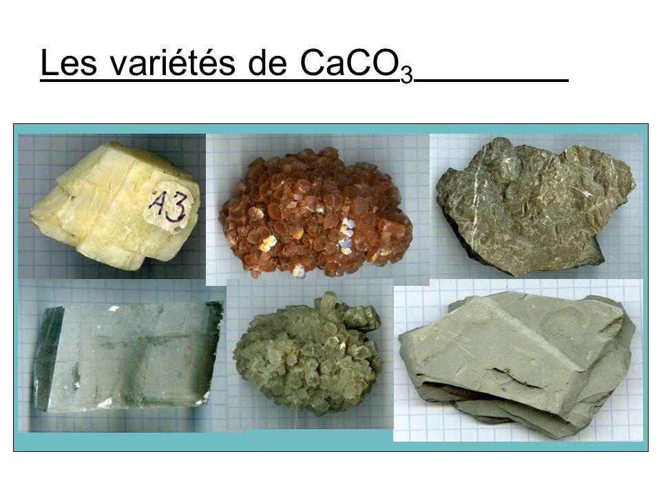 Les variétés de CaCO 3