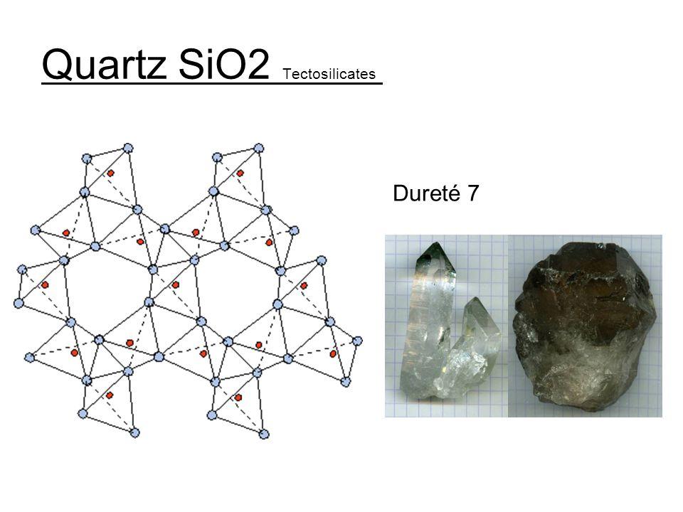 Quartz SiO2 Tectosilicates Dureté 7