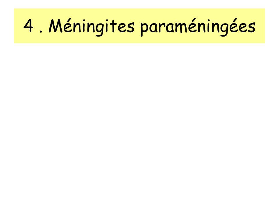 4. Méningites paraméningées