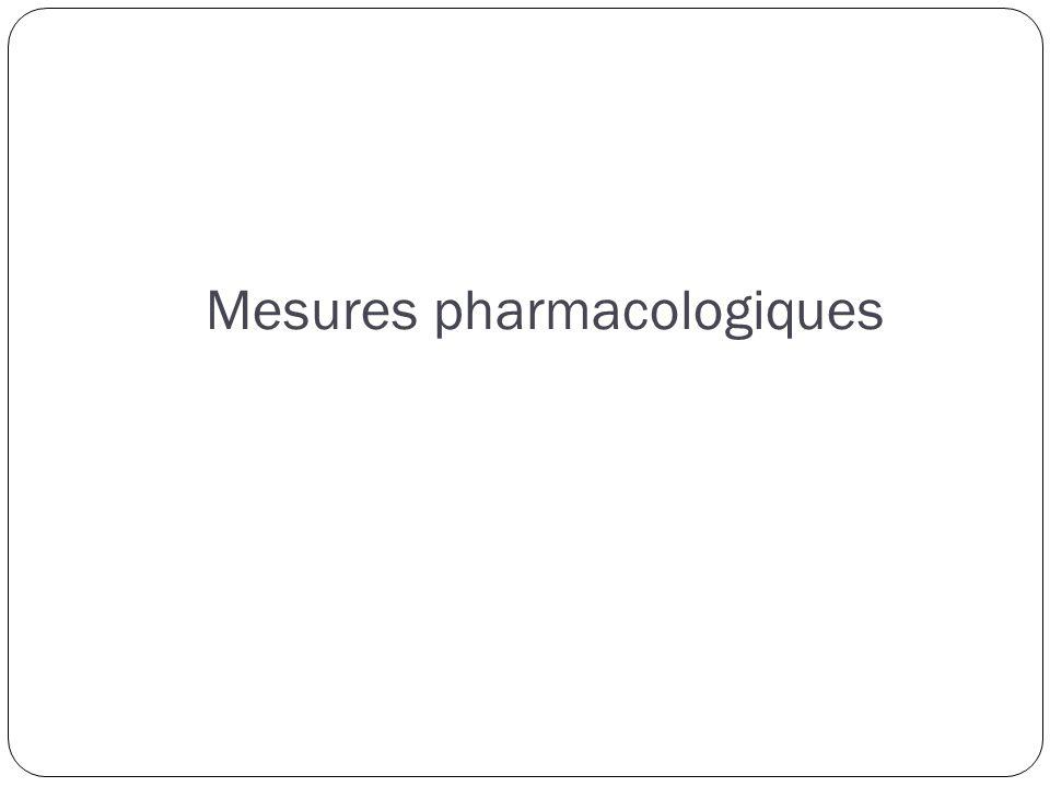 Mesures pharmacologiques