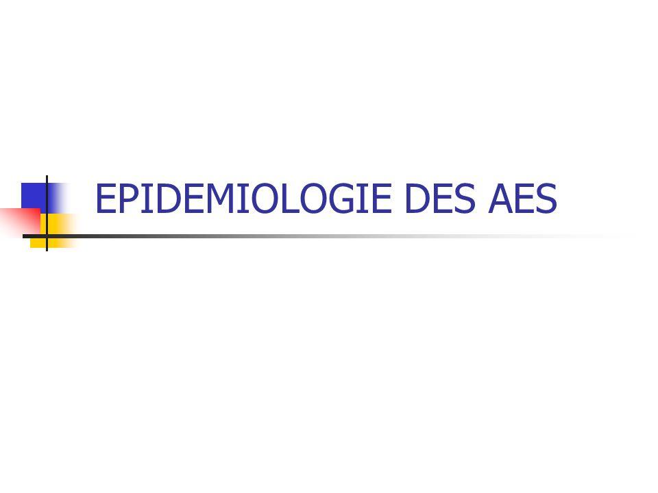 EPIDEMIOLOGIE DES AES
