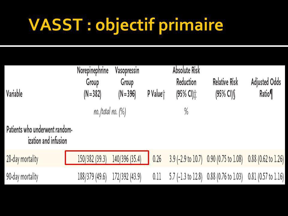VASST : objectif primaire