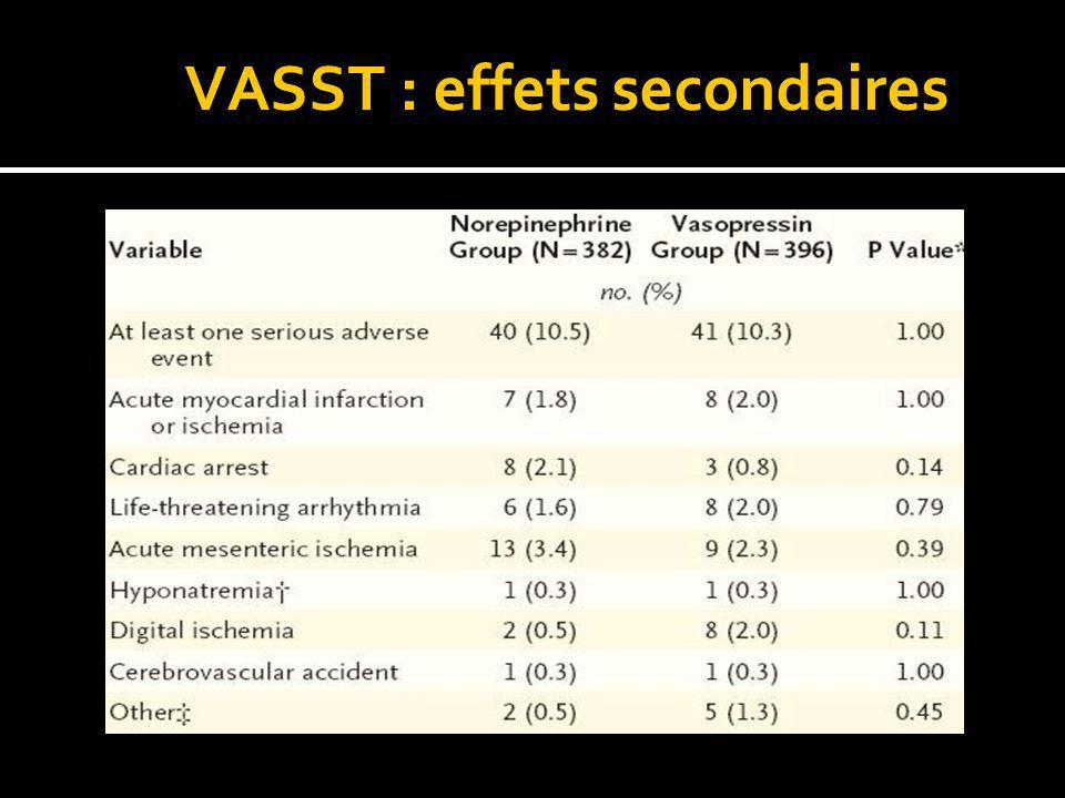 VASST : effets secondaires