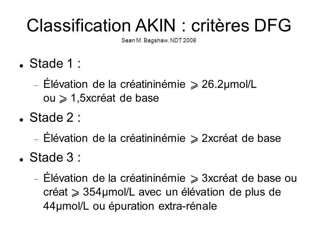 Classification AKIN : critères DFG Sean M.