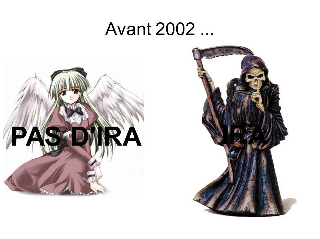 Avant 2002... PAS D IRA IRA
