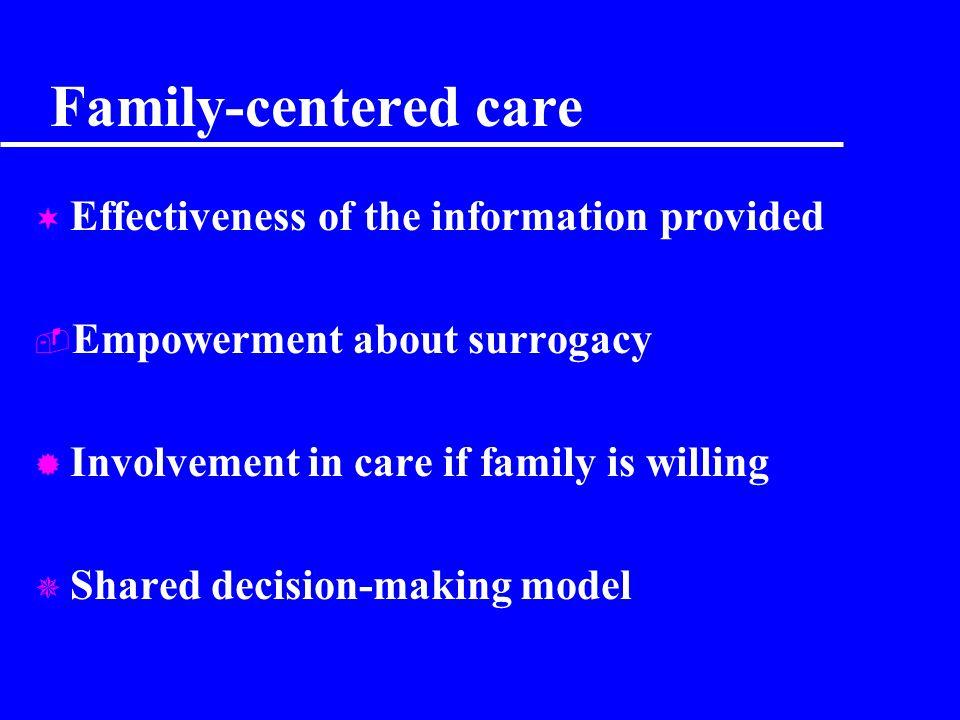 Pourquoi informer les familles ? RisqueMaladie Phase curative Phase palliative Fin de vie DECESDECES Deuil Patient Famille Family-centered care