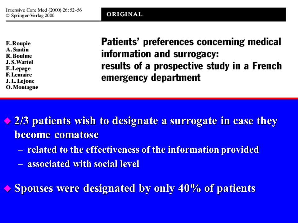Patients BPCO, cancéreux et patients VIH u Étude qualitative chez 79 patients ambulatoires u Mêmes attentes quant à la prise en charge de la fin de vi
