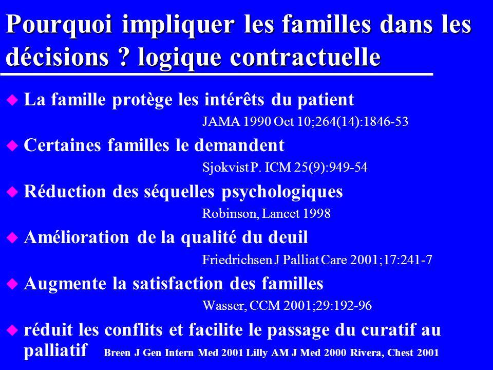 Famiréa IX u Les familles donnent elles un consentement adéquat à la recherche u Étude prospective longitudinale multicentrique –deux scénarios fictif