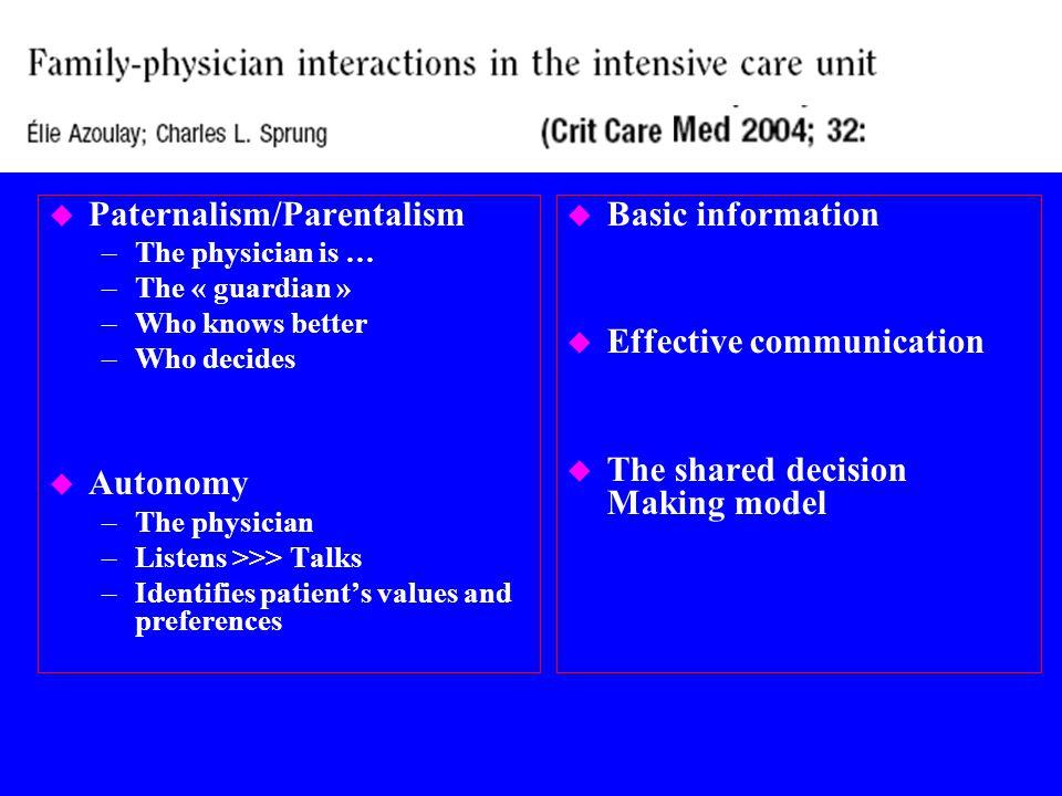 Relation médecin - malade Emanuel and Emanuel, JAMA 1992