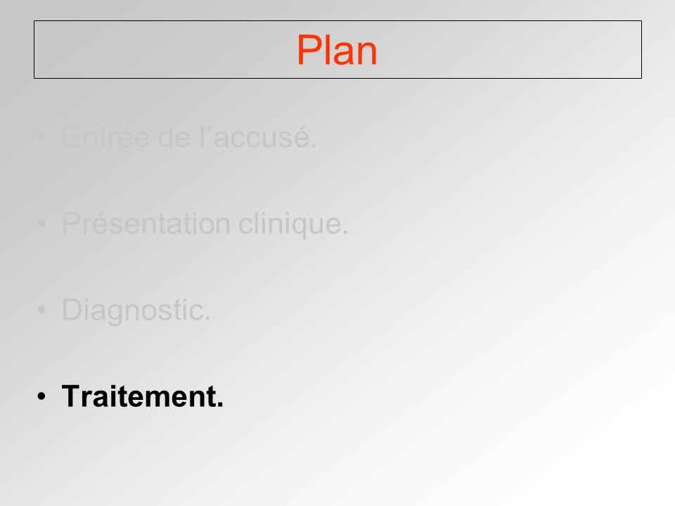 Plan Entrée de laccusé. Présentation clinique. Diagnostic. Traitement.