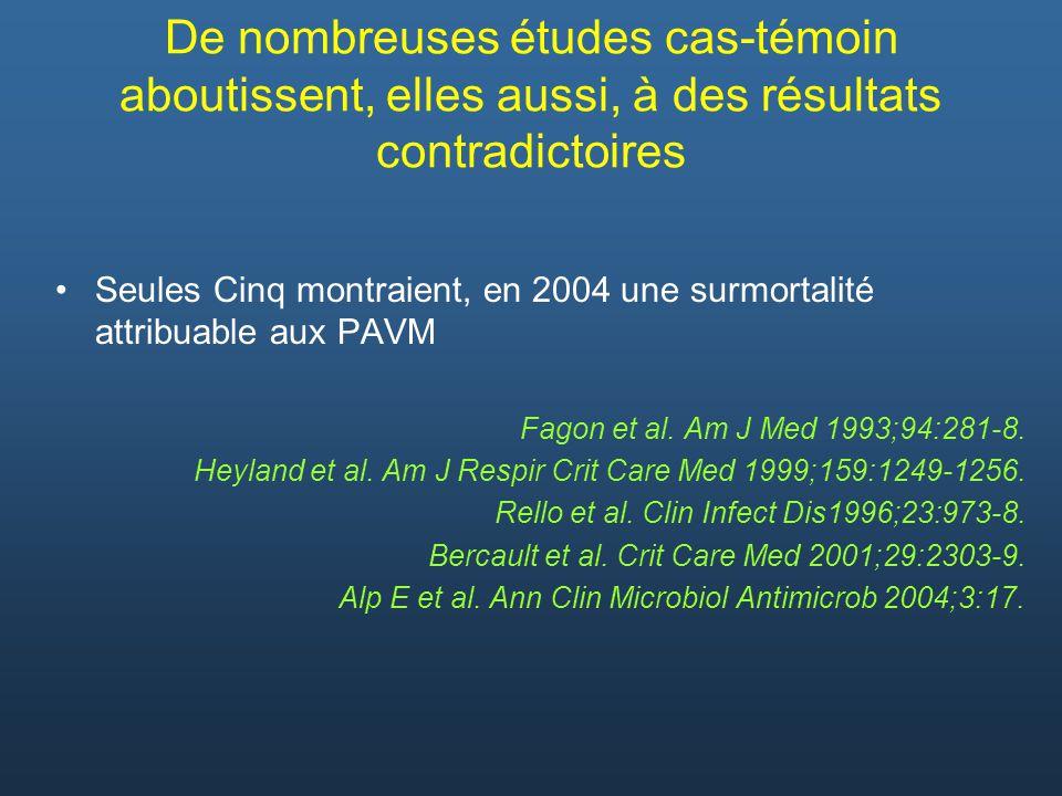 De nombreuses études cas-témoin aboutissent, elles aussi, à des résultats contradictoires Seules Cinq montraient, en 2004 une surmortalité attribuable