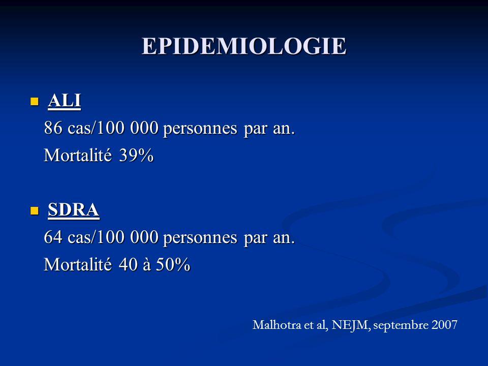 EPIDEMIOLOGIE ALI ALI 86 cas/100 000 personnes par an.