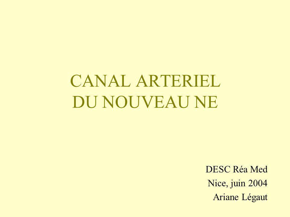 ANATOMIE Canal situé entre lartère pulmonaire et laorte, réalisant un shunt partiel de la circulation pulmonaire, dès 8 SA Muscle lisse en double hélice Ouverture active (stimuli humoraux, nerveux, hémodynamiques)
