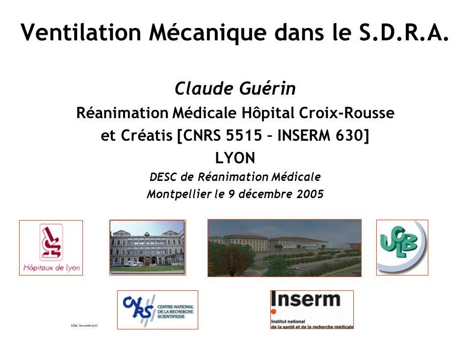 DESC Montpellier2005 Ventilation Mécanique dans le S.D.R.A.