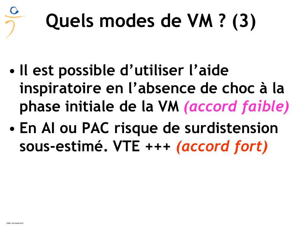 DESC Montpellier2005 Quels modes de VM .