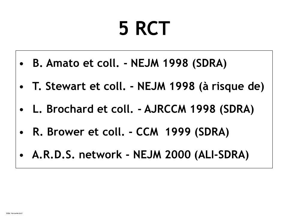 DESC Montpellier2005 B.Amato et coll. - NEJM 1998 (SDRA) T.