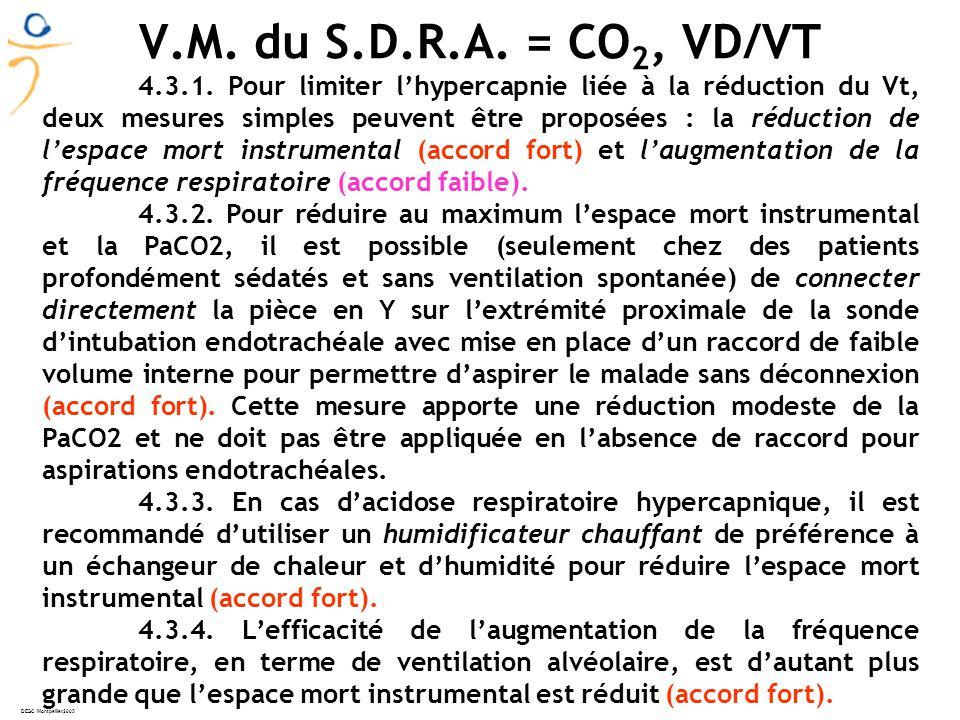 DESC Montpellier2005 V.M.du S.D.R.A. = CO 2, VD/VT 4.3.1.