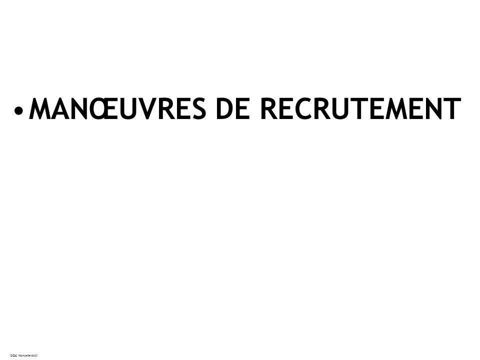 DESC Montpellier2005 MANŒUVRES DE RECRUTEMENT