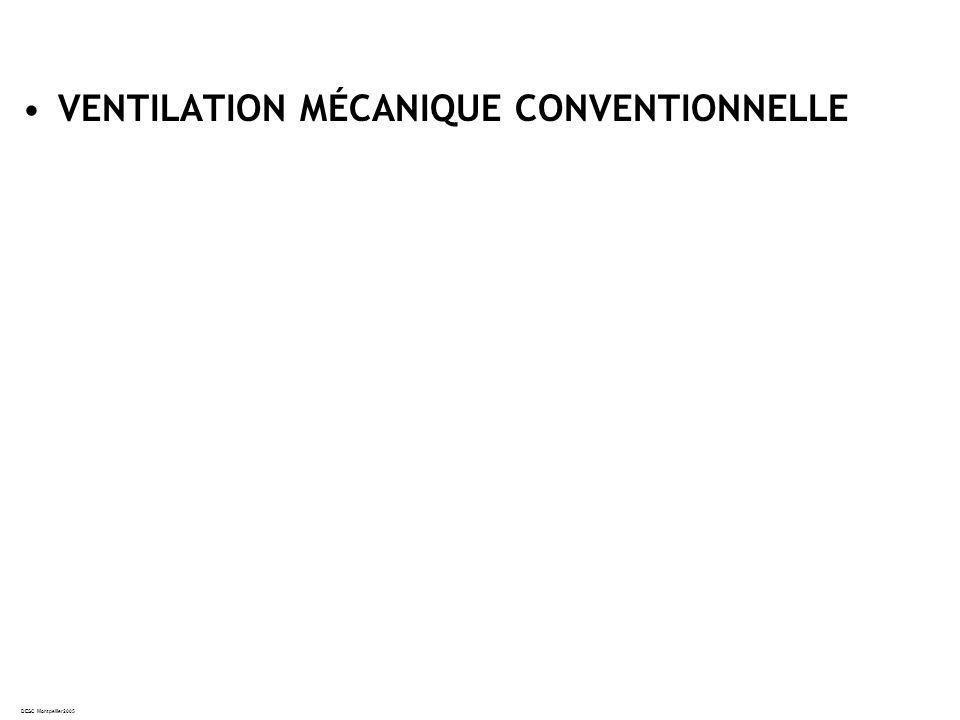 DESC Montpellier2005 VENTILATION MÉCANIQUE CONVENTIONNELLE