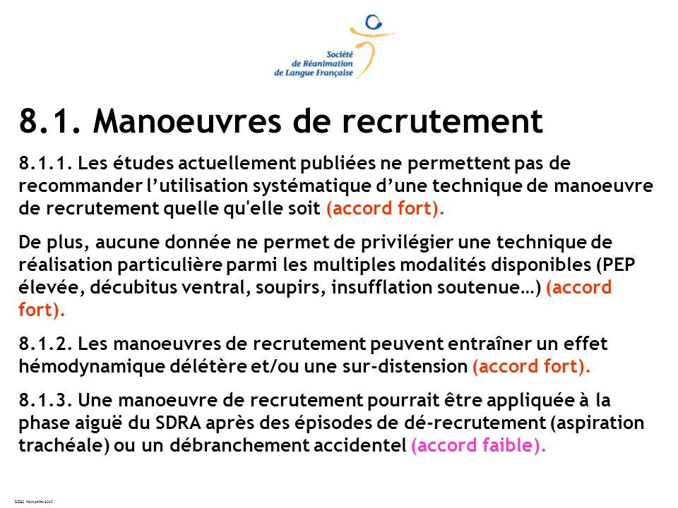 DESC Montpellier2005 8.1.Manoeuvres de recrutement 8.1.1.