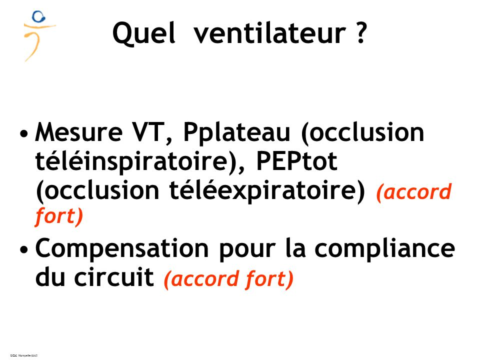 DESC Montpellier2005 ARDSNet NEJM 2000 Survie low VT Survie high VT