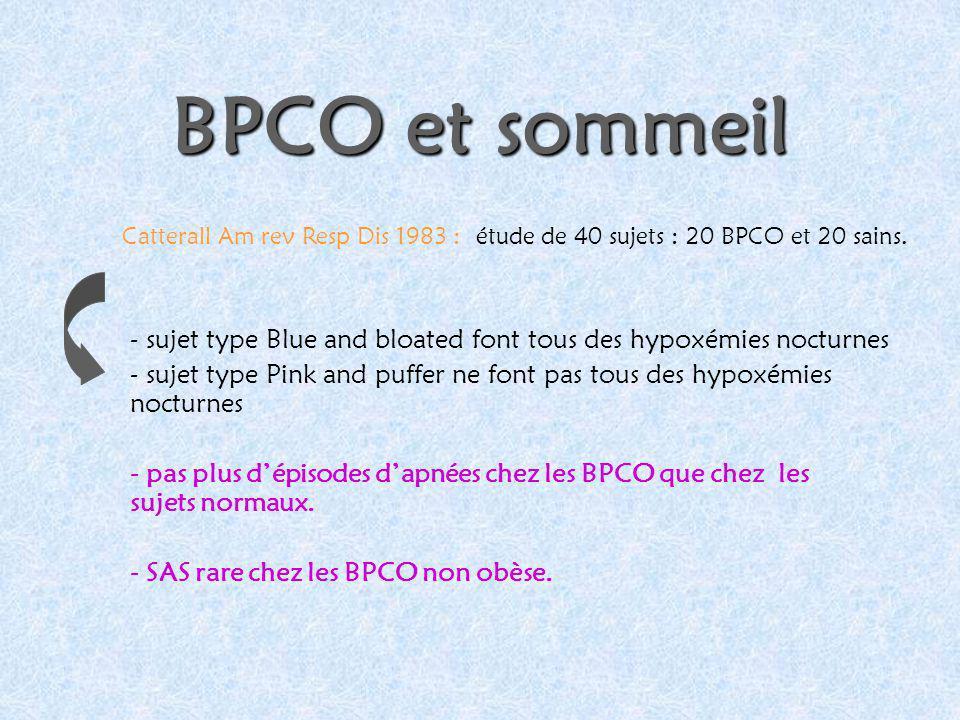 BPCO et sommeil - sujet type Blue and bloated font tous des hypoxémies nocturnes - sujet type Pink and puffer ne font pas tous des hypoxémies nocturne