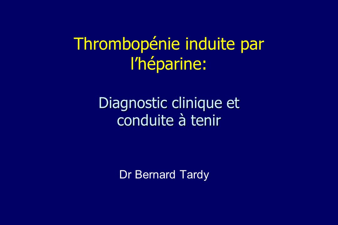 Analyse uni-variée événements thrombotiques