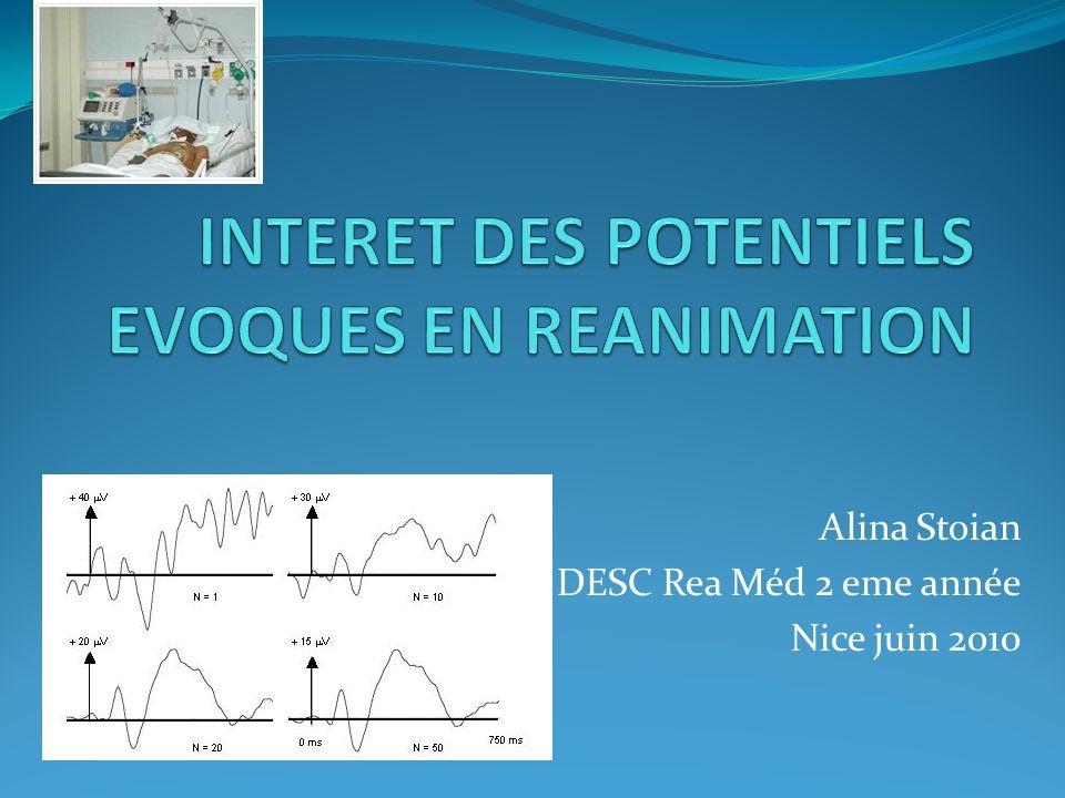 PE cortex secondaire associatif PE cognitif s Evaluation de létat fonctionnel cérébral cortical des aires associatives et du traitement au niveau cortical des informations sensorielles Le paradigme « oddball » : séquence de deux types de stimuli auditifs de fréquences différentes, frequent (80 %) et rare (20 %) MMN: missmatch negativity : série répétitive de stimulis standards et un stimulus déviant, atypique traitement de cette différence comme une nouvelle « information » de façon automatique ou consciente Fischer C, Clin Neurophysiol 1999;110:1601–10 P300: modulée par lattention MMN : indépendant de lattention volontaire Linterprétation PEC: conditions expérimentales très variables!!