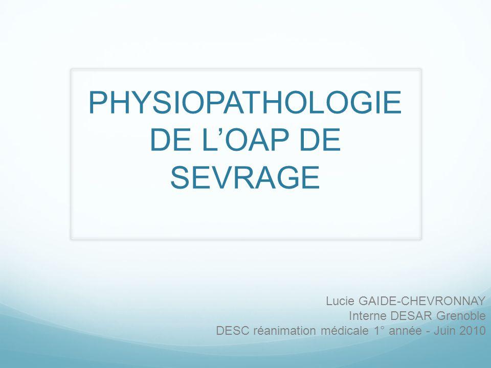 PHYSIOPATHOLOGIE DE LOAP DE SEVRAGE Lucie GAIDE-CHEVRONNAY Interne DESAR Grenoble DESC réanimation médicale 1° année - Juin 2010