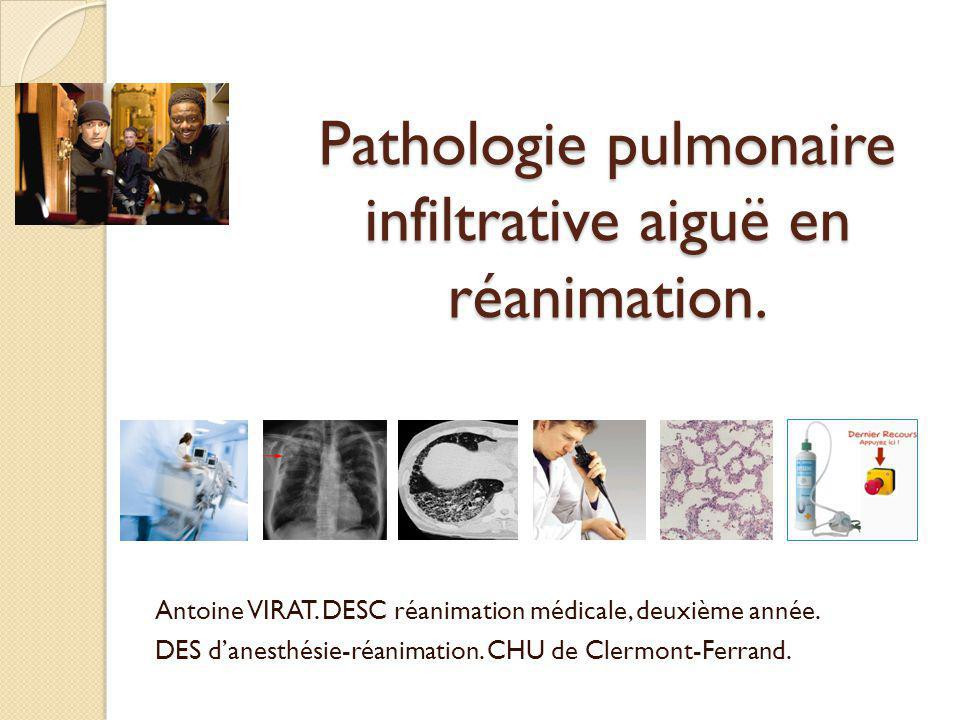 Les pneumopathies infiltrantes diffuses.