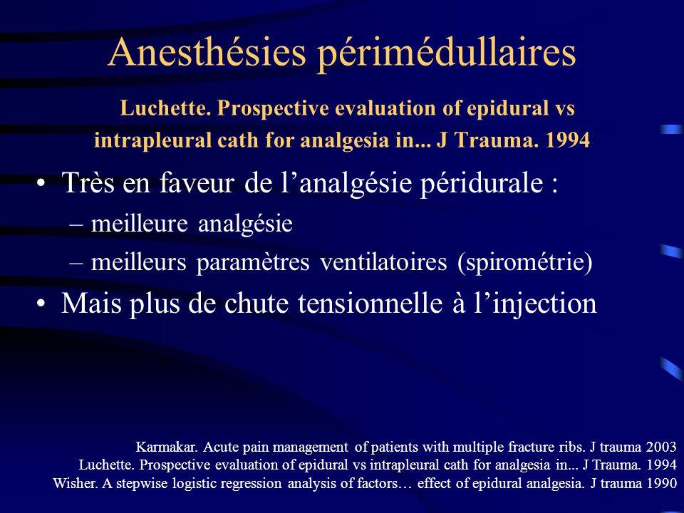 Anesthésies périmédullaires Luchette.