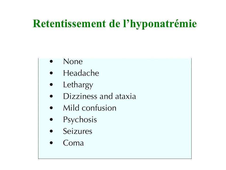 Retentissement de lhyponatrémie