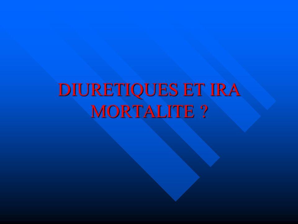 DIURETIQUES ET IRA MORTALITE ?