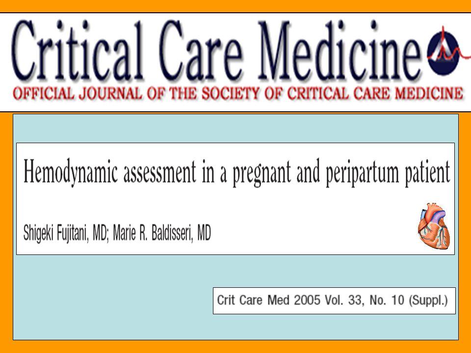 HTAP Primitive : Incidence : 1 à 2/million, femmes X 5 +++ (Rubin, Chest, 1993) Mortalité pendant la grossesse : 30 à 50% (Weiss, Am J Coll Cardiol, 1998) Cathéter Artériel Pulmonaire : –Diagnostic de élévation de lHTAP, défaillance VD (Monnery, BJA, 2001) –Thérapeutique per et post partum immédiat (Stewart, Chest, 2001) –Guide traitement : vasodilatateur artériel pulmonaire (epoprostenol,…) et anticoagulation permettant de réduire la mortalité péri partum