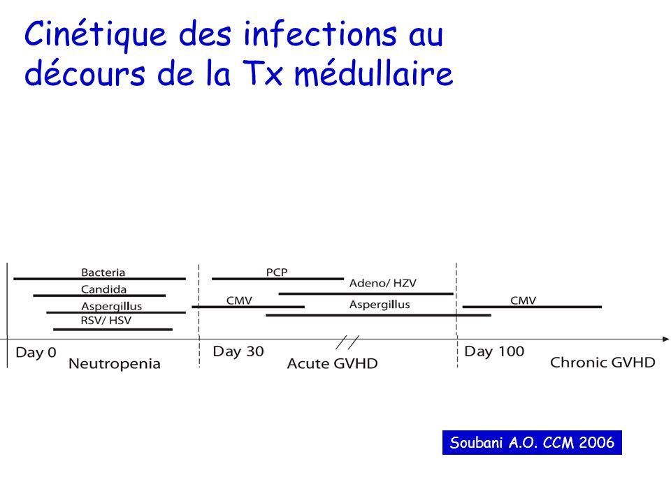 Cinétique des infections au décours de la Tx médullaire Soubani A.O. CCM 2006