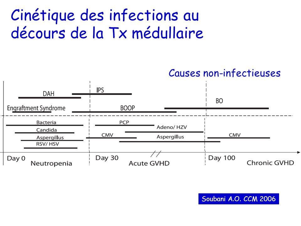 Cinétique des infections au décours de la Tx médullaire Soubani A.O.