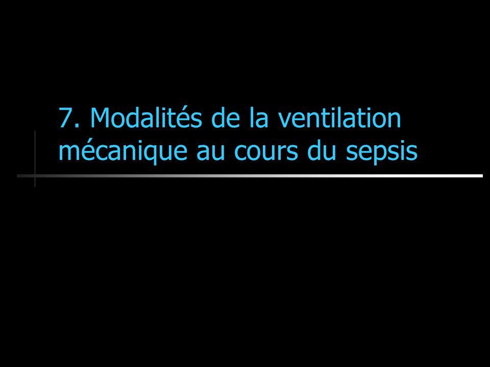 7. Modalités de la ventilation mécanique au cours du sepsis