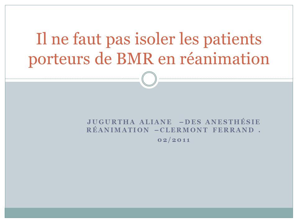 JUGURTHA ALIANE –DES ANESTHÉSIE RÉANIMATION –CLERMONT FERRAND.