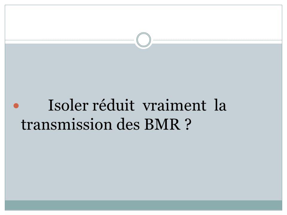 Isoler réduit vraiment la transmission des BMR ?
