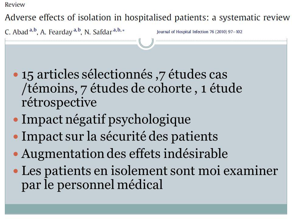 Impact psychologique négatif Diminution de la satisfaction des patients